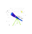 look up telescope discover universe space star vector image