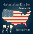 martin luther king day in usa vector image vector image