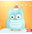 Merry Christmas greeting card with an owl vector image vector image