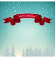 Merry Christmas Landscape in Turquoise Shades vector image vector image