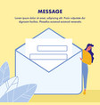 message poster template with text space vector image vector image