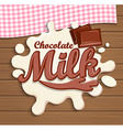 Milk chocolate splash vector image vector image