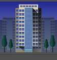 modern high-rise flat vector image vector image