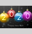 new year banner template with bright balls vector image vector image