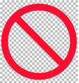 no sign isolated on transparent background flat vector image vector image