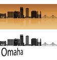 Omaha V2 skyline in orange vector image vector image