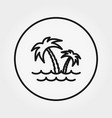palm tree sea icon editable thin vector image vector image