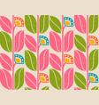 pattern with retro abstract flowers vector image vector image