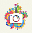 Photo Camera icon vibrant colors vector image vector image