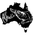 Platypus on map of Australia vector image vector image