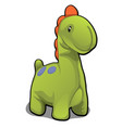 plush toy in form green dinosaur isolated vector image vector image