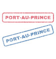 port-au-prince textile stamps vector image vector image