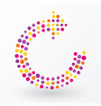 refresh symbol composed of colorful dots vector image vector image
