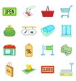 Retail icons set cartoon style vector image vector image