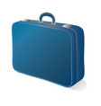 retro suitcase on white background vector image