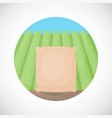 rice in sackcloth bag flat icon vector image vector image