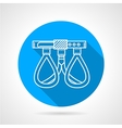 Round flat icon for climbing belay vector image vector image