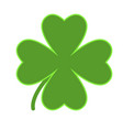 saint patrick lucky irish day green clover symbol vector image