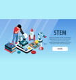 science education horizontal banner vector image vector image