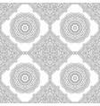 seamless pattern of black white mandala line art vector image vector image