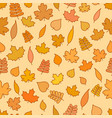seamless pattern with yellow and orange leaves vector image vector image