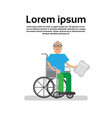senior man on wheel chair grandfather vector image