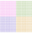 set colorful thread fabric texture vector image