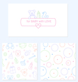 Set of design elements of baby theme vector image