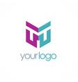 shape letter m color company logo vector image