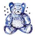 Sitting bear vector image