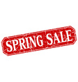 spring sale red square vintage grunge isolated vector image vector image