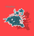 sticker map houston city texas roads vector image vector image