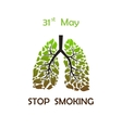 Stop smoking background vector image vector image