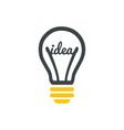 stylized sign of lightbulb logotype new idea vector image vector image