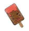 sweet ice cream kawaii cute cartoon vector image