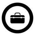 tool box professional icon black color in round vector image