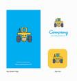 tractor company logo app icon and splash page vector image vector image