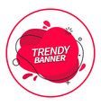 trendy memphis style red banner vector image vector image