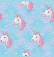 unicorn and rainbow seamless pattern isolated on vector image vector image