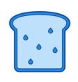 whole wheat bread line icon vector image vector image