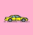 yellow car line icon vector image vector image