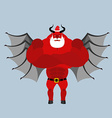 Satan Claus Devil with beard and mustache Red vector image