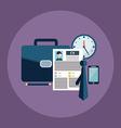 Business process icons set of portfolio cv vector image
