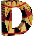 3d font letter d vector image vector image