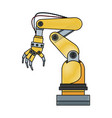 arm hand cyber machine industry vector image