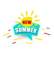 banner new summer blue speech bubble promotion vector image vector image