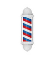 barber shop poles with stripes isolated on white vector image