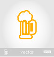 beer mug outline icon summer vacation vector image vector image
