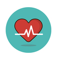 Blood pressure flat icon Medical vector image