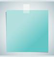 blue paper sheet vector image
